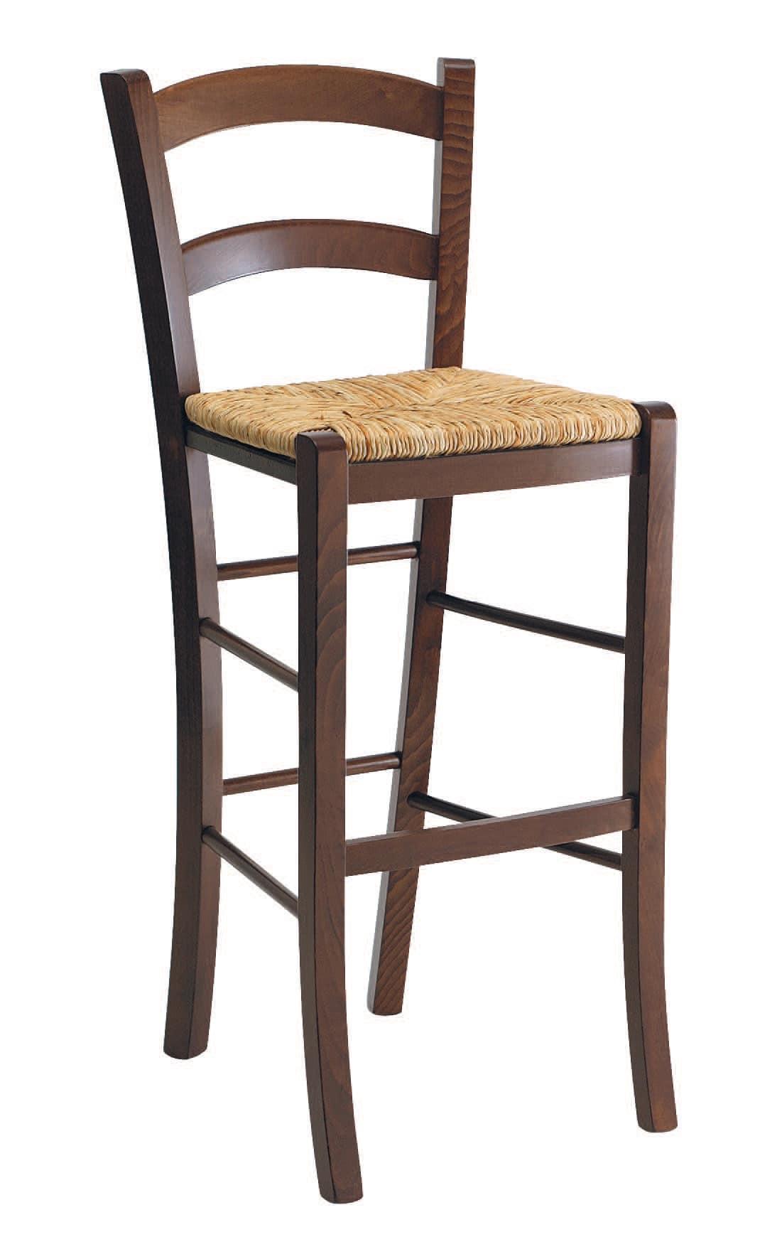 SG 119, Rustikaler Hocker aus Holz mit Sitzfläche, für Bars
