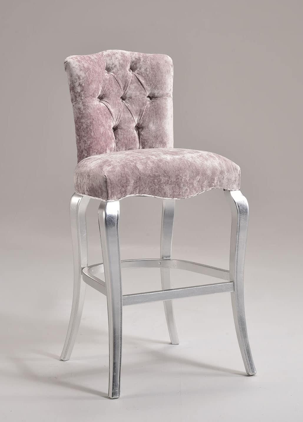 stuhl aus buche gesteppte r ckenlehne f r historische. Black Bedroom Furniture Sets. Home Design Ideas