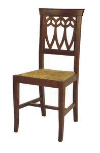 104, Rustikaler Stuhl mit anpassbarem Sitz