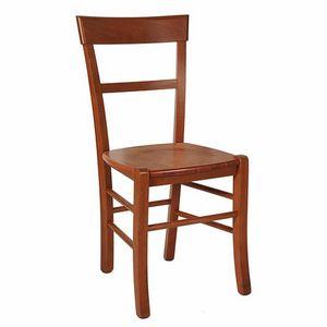 109, Rustikaler Stuhl mit Holzsitz