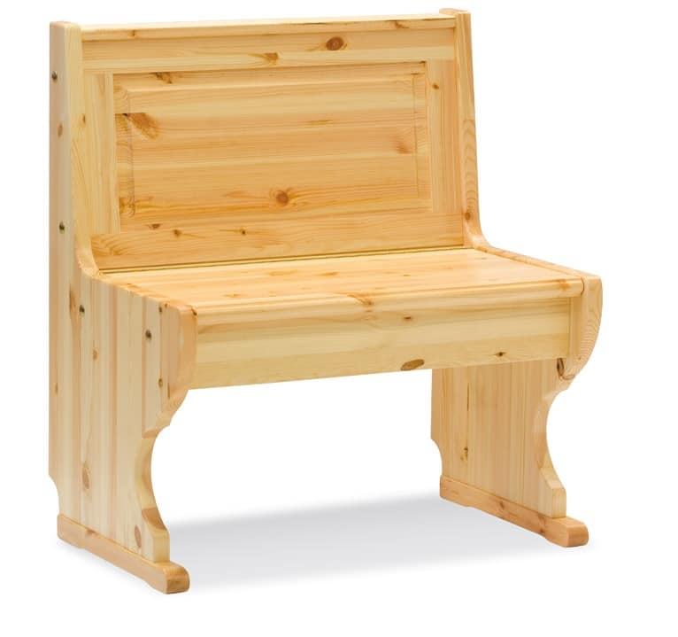 2/GNO, Eckbank, aus Holz, rustikale Art, für Restaurant