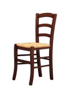 207, Festen Stuhl, in Holz, mit Sitzfläche, für Brauerei
