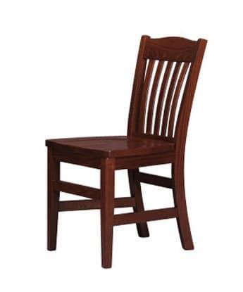218, Rustikalen Stuhl, Rückenlehne in vertikalen Lamellen lackiert