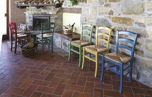 806, Rustikaler Stuhl mit Stroh, in verschiedenen Farben