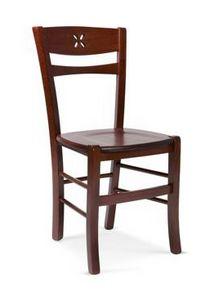 811 L, Rustikaler Holzstuhl, für Tavernen und Gasthöfe