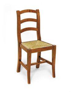 Art.107, Rustikaler Stuhl aus Holz und Stroh