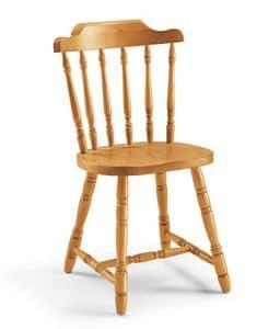 Chucky, Chair komplett in massiver Kiefer, für Chalets und Tavernen