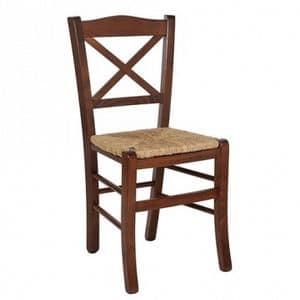 Claudia, Stuhl mit geflochtenem Stroh, für rustikale Einrichtung