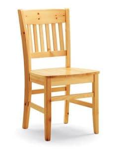 Dora, Rustikal Stuhl komplett aus Kiefer, für private und contrac Verwendung