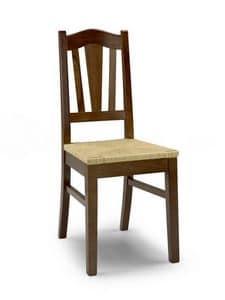 Iris A, Rustikal Stuhl mit Sitzfläche und Rückenlehne mit Lamellen