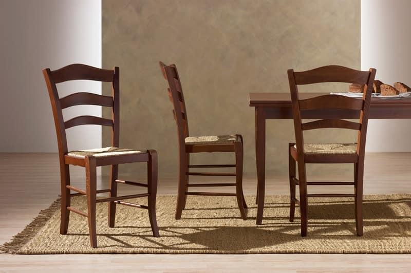 Rustikal Stuhl Aus Holz Stroh Sitz Für Küche
