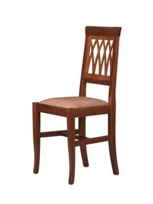 R01, Rustikal Stuhl aus Buchenholz, Sitz gepolstert