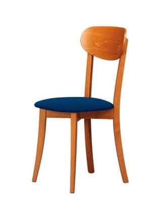 R12, Stühle aus Naturholz, geeignet für klassische und rustikale Küche