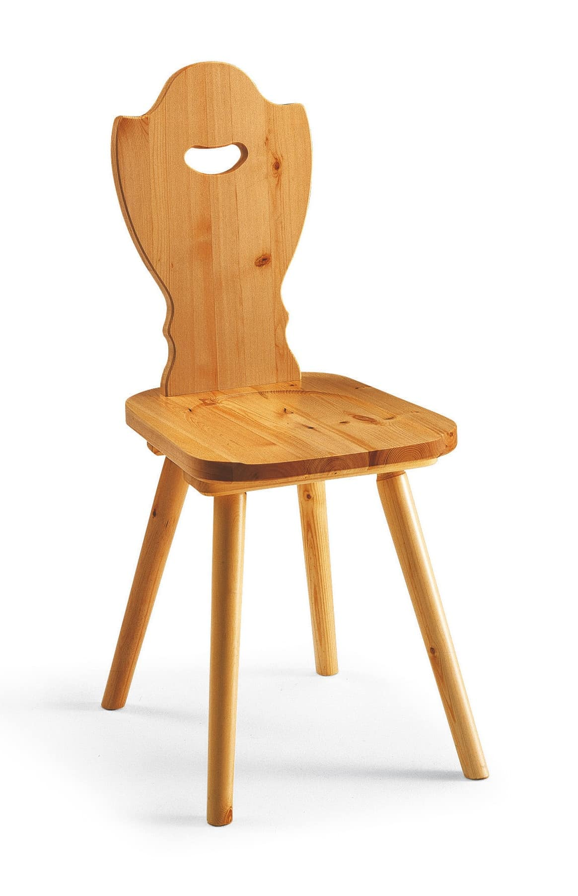 Rustikaler Stuhl aus massiver Kiefer, für Berghütte | IDFdesign