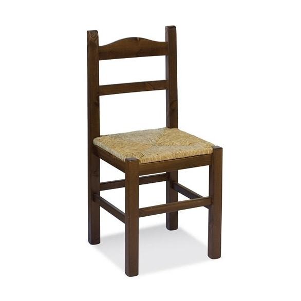 S/109 P Anita Stroh, Stuhl mit Sitzfläche, für rustikale Wohnungen