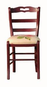 Valérie BR.0202.T, Stühle mit Stoff oder Ledersitz