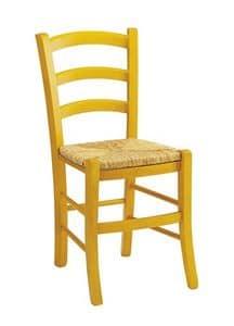 Venezia, Rustikaler Stuhl in verschiedenen Farben erhältlich