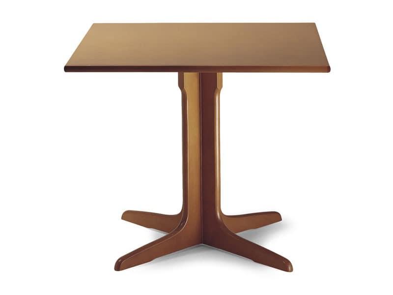 924, Holztisch mit Mittelsäule