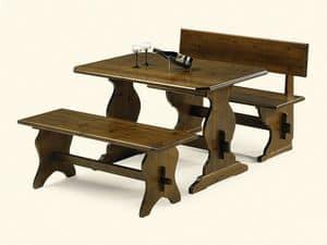 980, Tisch aus Pinienholz, im rustikalen Stil, für Pizzeria
