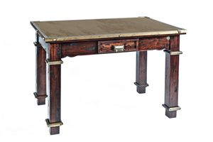 Art. 484RPS, Landtisch, Holz und Corten Stahl