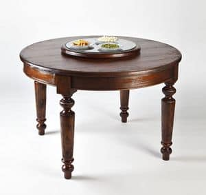 Art. 593, Runden Holztisch, mit Lenkrolle