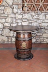 Art. CT 630, Barrel-förmigen Tisch, im rustikalen Stil