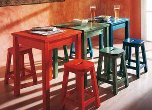 Bar, Massiver Kiefernholztisch für Restaurants