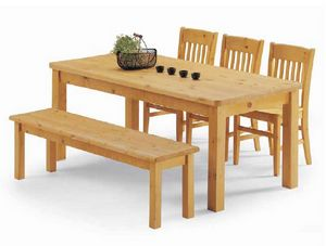 Malenco-T, Kiefernholz Tisch, für rustikale Einrichtung