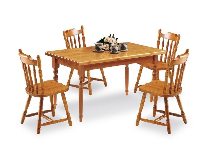 rechteckiger tisch aus kiefernholz im rustikalen stil idfdesign. Black Bedroom Furniture Sets. Home Design Ideas