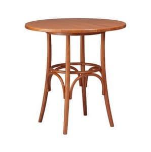 TV01, Tabellen in Buche gebogenem Holz, rustikal