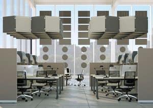 AIRTWIN, Modulare Akustikplatte, farbige schallabsorbierenden Platten