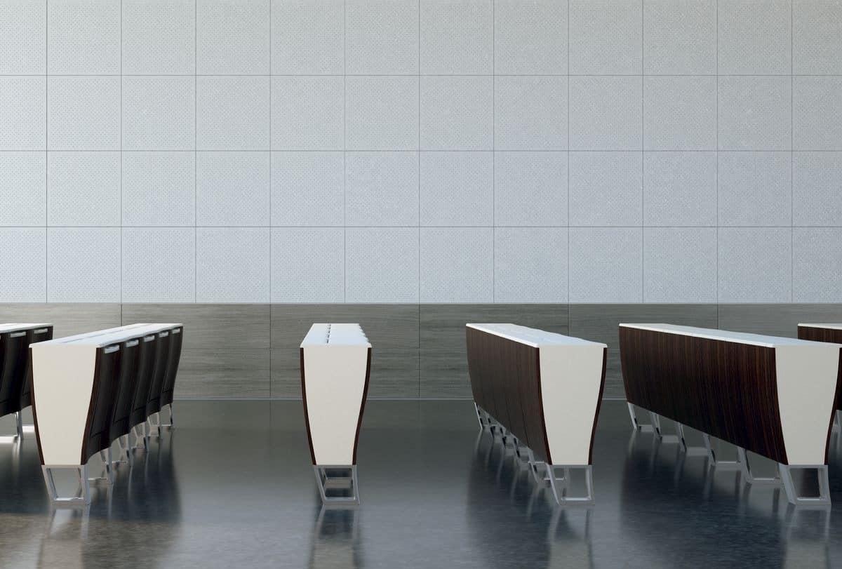 mdf perforierte wandmodule mit betonoberfl che idfdesign. Black Bedroom Furniture Sets. Home Design Ideas