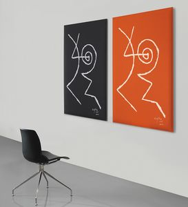 Snowsound art - Gillo Dorfles, Schallabsorbierende Paneele mit Motiven von Gillo Dorfles