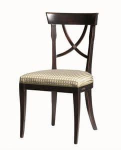 Alexie BR.0205, Stuhl mit Stoff Sitz, ohne Armlehnen