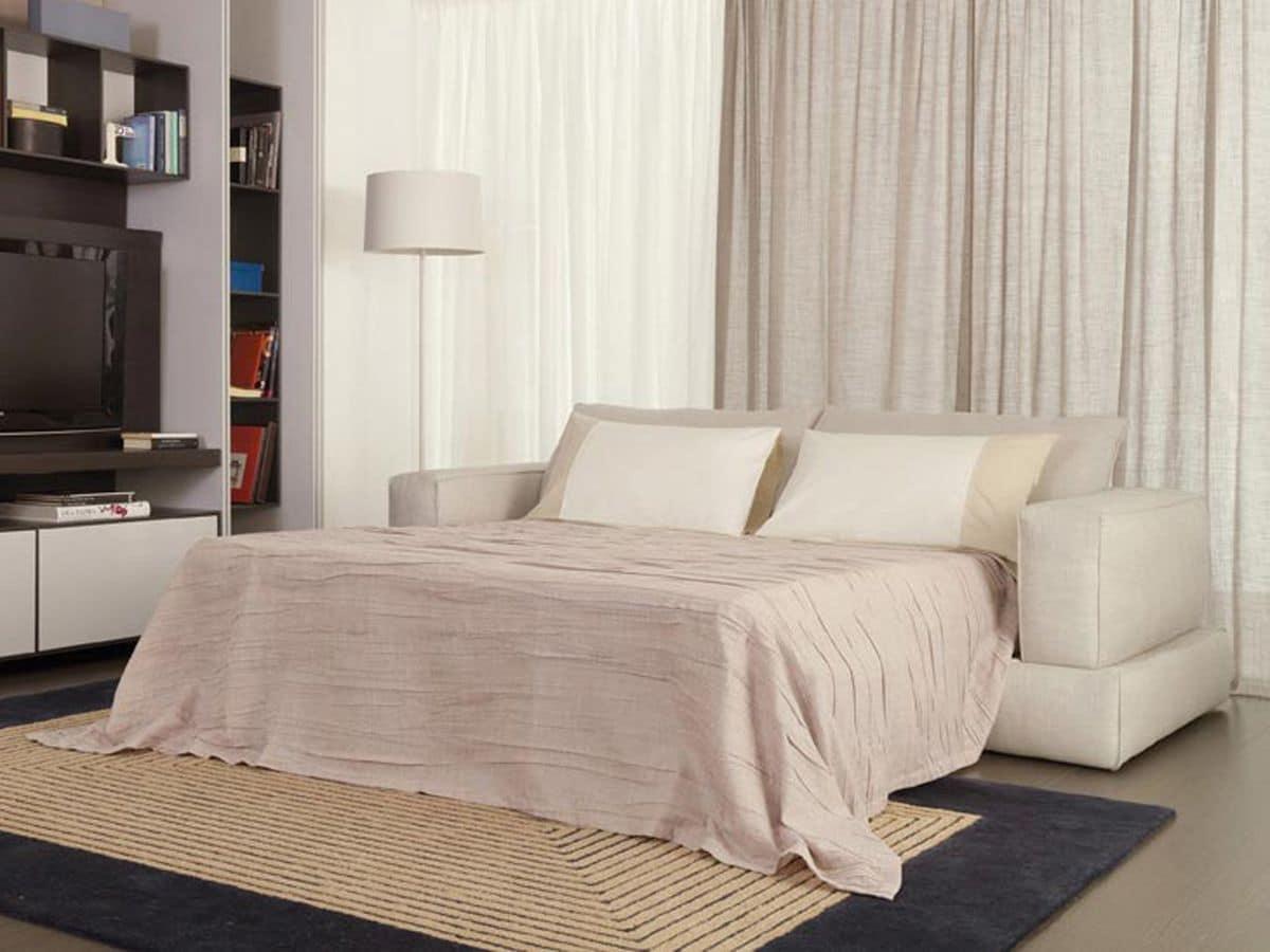 moderne schlafcouch stoffbezug f r ferienwohnungen. Black Bedroom Furniture Sets. Home Design Ideas