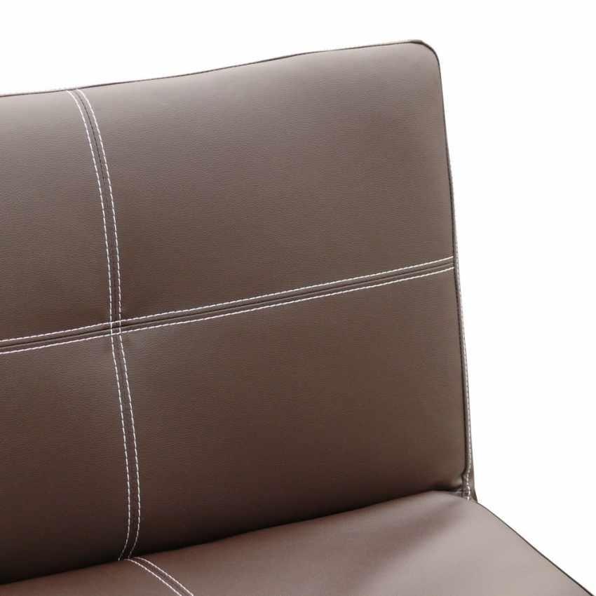 Schlafsofa Ready 3 Sitzer Kunstleder Economy Bett TOPAZIO, Wirtschaftliches Sofa aus Kunstleder