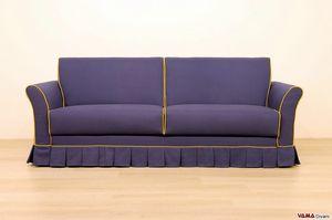 Madrid, Klassisches Sofa mit Volant, komplett abziehbar