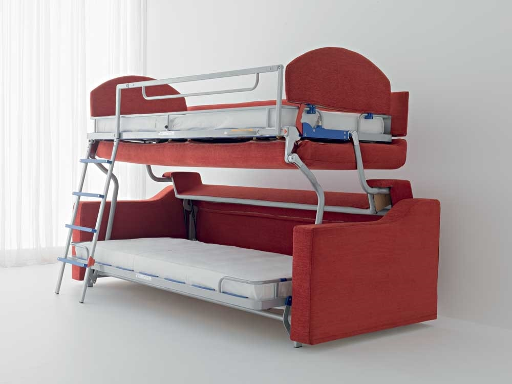 Etagenbett Schlafsofa : Schlafsofa mit etagenbett idfdesign