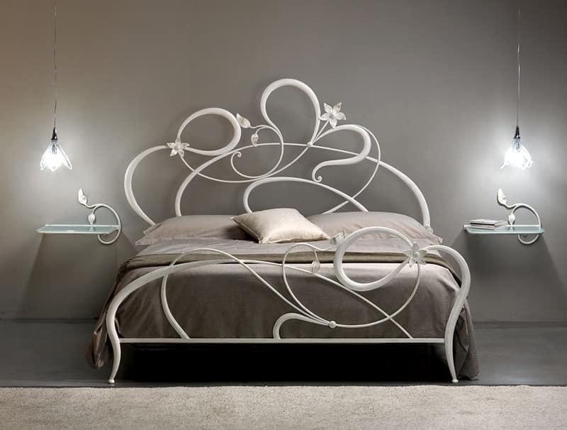 Doppelbett aus schmiedeeisen geschwungene linien idfdesign - Letto aura cosatto ...