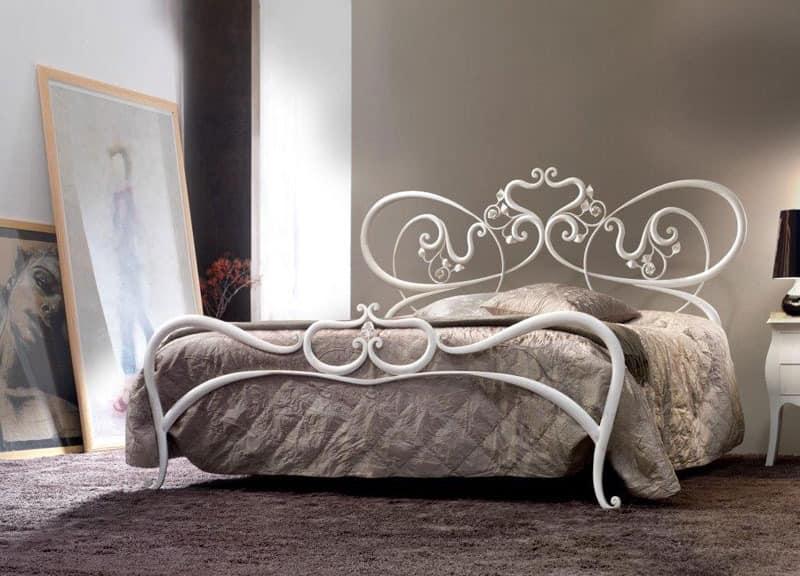 doppelmetallbett geschwungene linien romantische bed. Black Bedroom Furniture Sets. Home Design Ideas