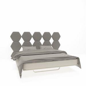 Cristallo, Doppelbett mit Kopfteil mit Sechsecken