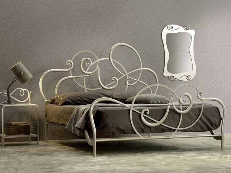 Eisenbett, handgemacht, Soft-Design | IDFdesign