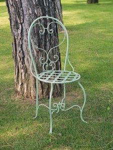 CAFFÈ GF4011CH, Dekorierter schmiedeeiserner Stuhl für den Außenbereich
