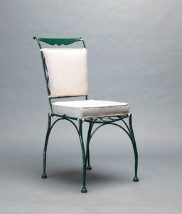 FLORIO GF4005CH, Schmiedeeisen Stuhl für den Außenbereich