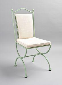 ROMBI GF4002CH, Schmiedeeisen Stuhl mit Verflechtung