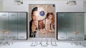 CITYBOX comp.04, 3 Türenschrank, in Stahl, verschiedene Farben, für Fitness-Studio