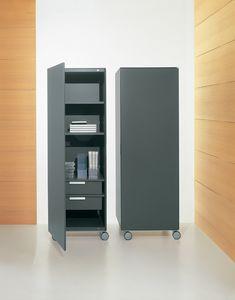 ROLLERBOX comp.02, Vertikale Behälter für Büro und zu Hause