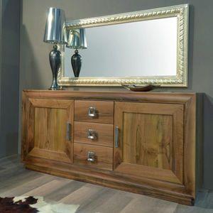 116, Massivholz Sideboard mit Türen und Schubladen