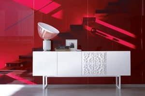 Adorna, Weiß lackierte Anrichte, moderner Stil