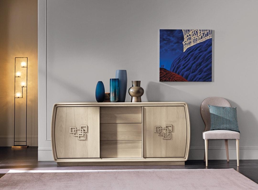 Amarcord Art. AM001, Sideboard mit Schiebetüren und Schubladen